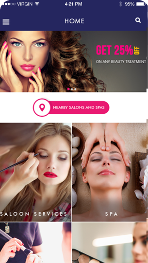 Beauty Salon App Slider