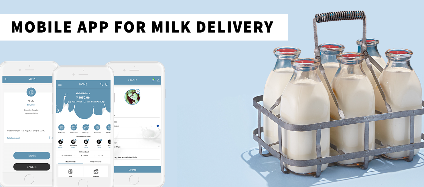 White Label Mobile App for Milk Delivery Services - App for