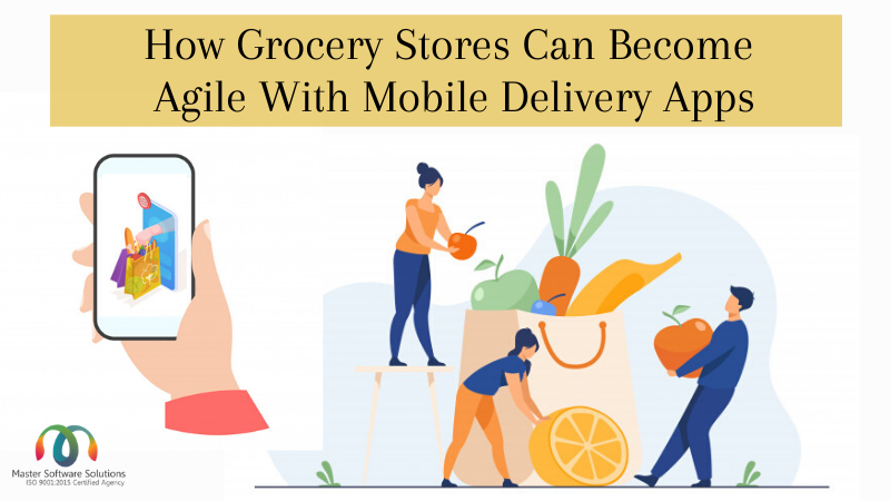 Online grocery store with mobile apps